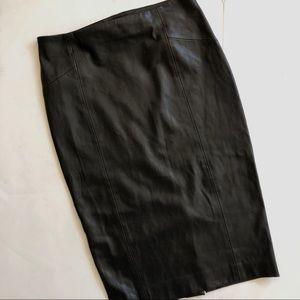 Zara black vegan leather pencil skirt